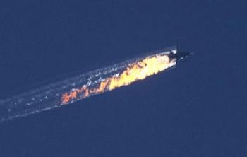 Сбитый турками русский самолет