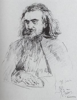 В. С. Соловьёв. Портрет работы И. Е. Репина 1891 года