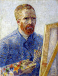 Ван Гог. Автопортрет у мольберта. 1988 г.