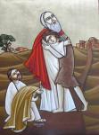 Возвращение блудного сына. Коптская икона