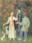 Иллюстрация к сказке Н.С. Лескова «Час воли Божией»
