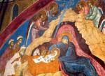 Рождество Христово. Фреска. Монастырь Высокие Дечаны. Метохия. Сербия