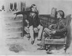 Белинский и Гоголь. Худ. Б. Лебедев