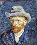 Автопортрет в серой шляпе. 1887.
