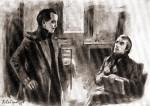 Белинский посещает Лермонтова на гауптвахте в Ордонансгаузе