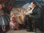 Ганс-Христиан Андерсен читает детям сказки