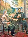 Д.А. Налбандян. «Горький и Толстой в Ясной Поляне»