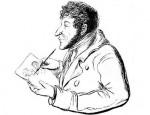 Автопортрет Гофмана, изображающий автора за рисованием автопортрета