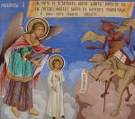 Мытарства. Фрагмент фрески Рыльского монастыря, Болгария