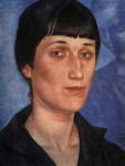 Кузьма Петров-Водкин. Портрет Анны Ахматовой