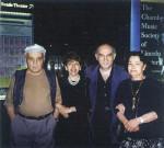 Слева направо: А. Рыбаков, М. Прицкер, С. Волков, Т. Рыбакова 1996 г