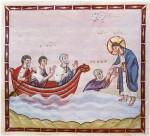 Спасение утопающего Петра. Книжная миниатюра 10 века